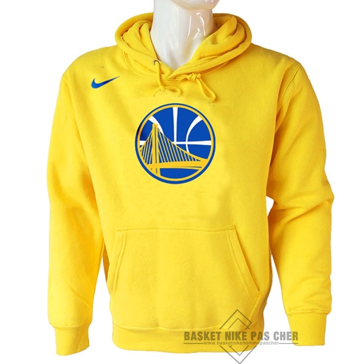 Maillot NBA Pas Cher - Hoodies NBA Golden State Warriors Nike Jaune