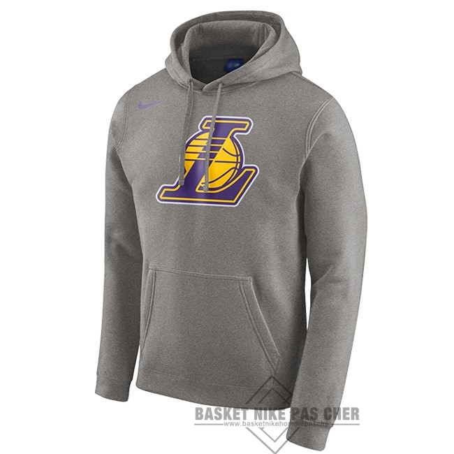 Maillot NBA Pas Cher - Hoodies NBA Los Angeles Lakers Nike Gris
