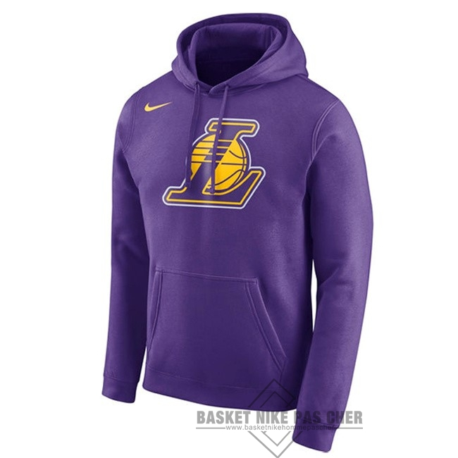 Maillot NBA Pas Cher - Hoodies NBA Los Angeles Lakers Nike Pupura