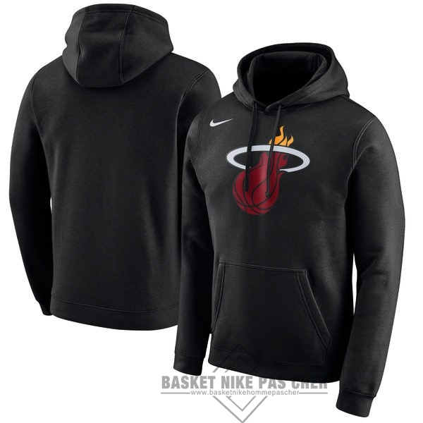 Maillot NBA Pas Cher - Hoodies NBA Miami Heat Nike Noir