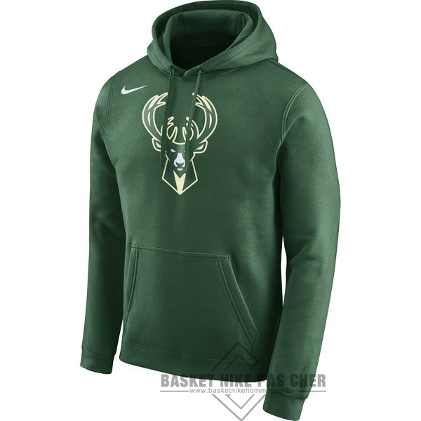 Maillot NBA Pas Cher - Hoodies NBA Milwaukee Bucks Nike Vert