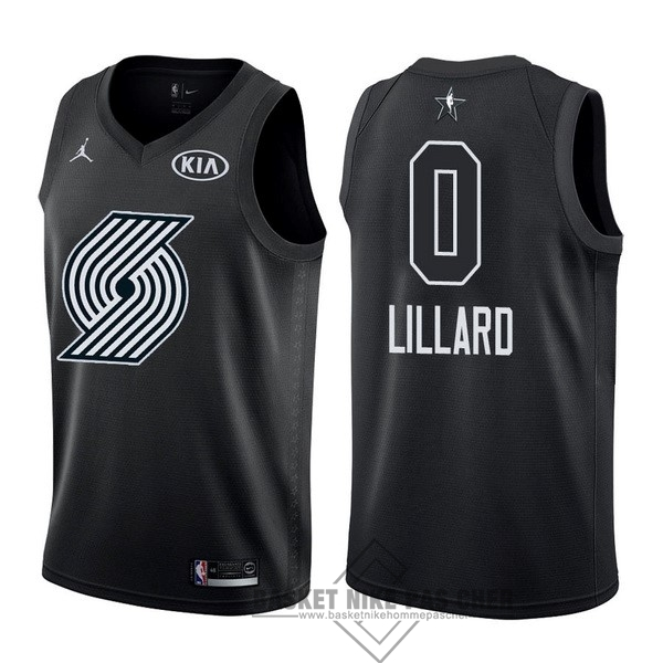 Maillot NBA Pas Cher - Maillot NBA 2018 All Star NO.0 Damian Lillard Noir