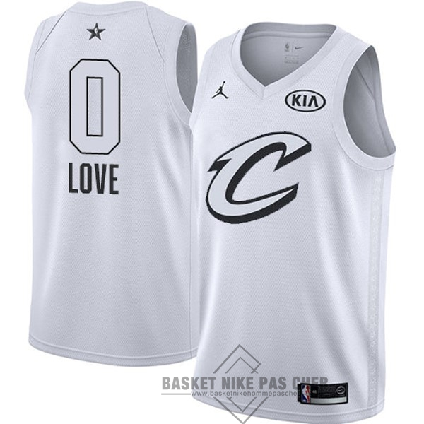 Maillot NBA Pas Cher - Maillot NBA 2018 All Star NO.0 Kevin Love Blanc