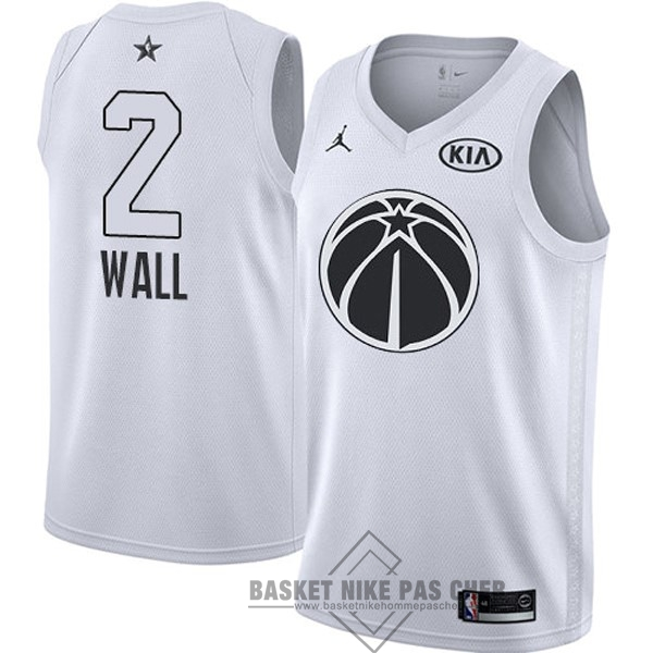 Maillot NBA Pas Cher - Maillot NBA 2018 All Star NO.2 John Wall Blanc