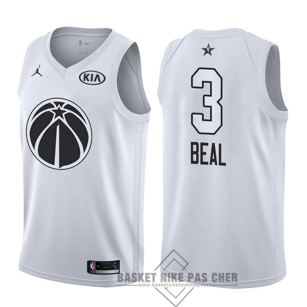 Maillot NBA Pas Cher - Maillot NBA 2018 All Star NO.3 Bradley Beal Blanc