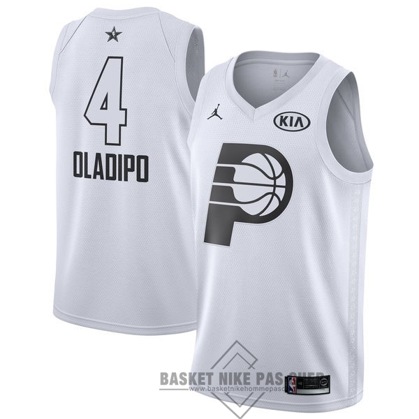 Maillot NBA Pas Cher - Maillot NBA 2018 All Star NO.4 Victor Oladipo Blanc