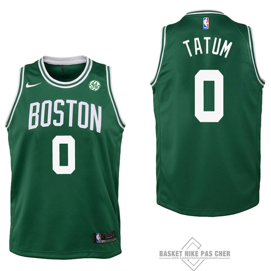 Maillot NBA Pas Cher - Maillot NBA Enfant Boston Celtics NO.0 Jayson Tatum Vert 2017-18