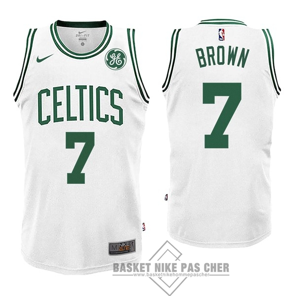 Maillot NBA Pas Cher - Maillot NBA Enfant Boston Celtics NO.7 Jaylen Brown Blnaco 2017-18