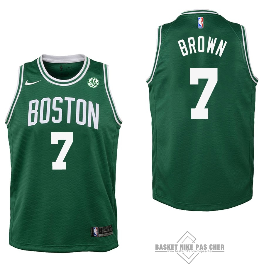 Maillot NBA Pas Cher - Maillot NBA Enfant Boston Celtics NO.7 Jaylen Brown Vert 2017-18
