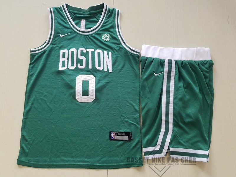 Maillot NBA Pas Cher - Maillot NBA Ensemble Complet Enfant Boston Celtics NO.0 Jayson Tatum Vert 2017-18
