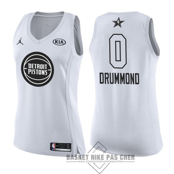 Maillot NBA Pas Cher - Maillot NBA Femme 2018 All Star NO.0 Andre Drummond Blanc