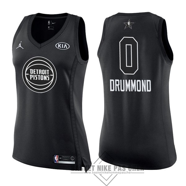 Maillot NBA Pas Cher - Maillot NBA Femme 2018 All Star NO.0 Andre Drummond Noir
