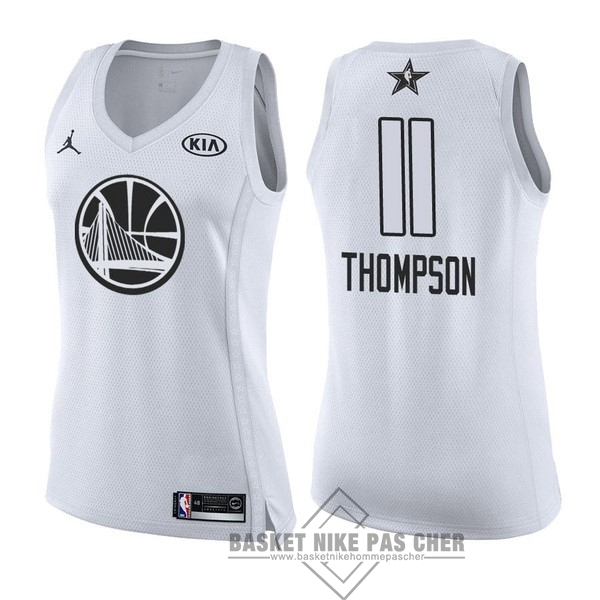 Maillot NBA Pas Cher - Maillot NBA Femme 2018 All Star NO.11 Klay Thompson Blanc