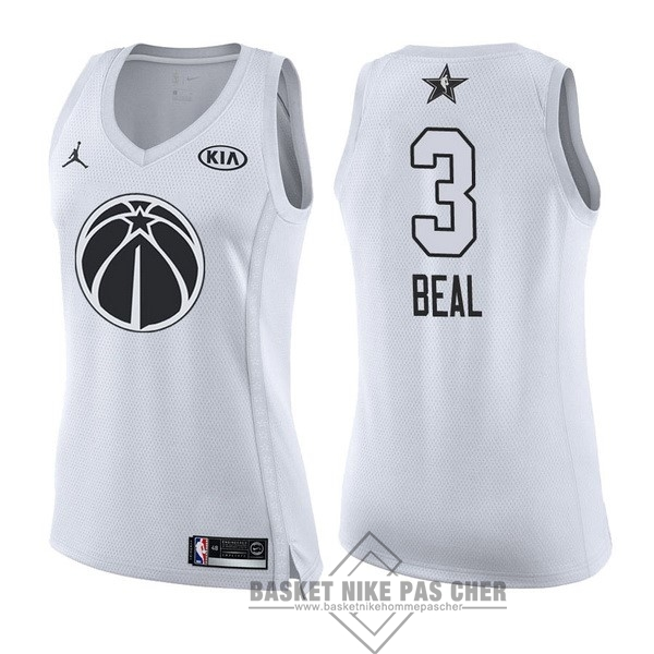 Maillot NBA Pas Cher - Maillot NBA Femme 2018 All Star NO.3 Bradley Beal Blanc