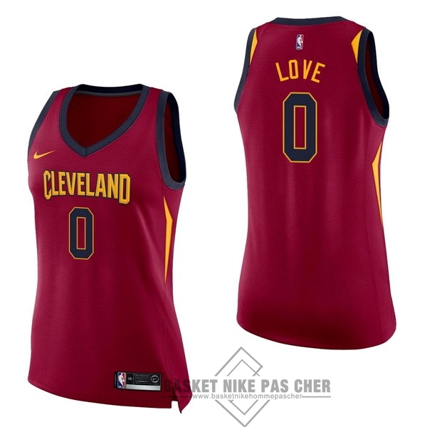 Maillot NBA Pas Cher - Maillot NBA Femme Cleveland Cavaliers NO.0 Kevin Love Rouge Icon