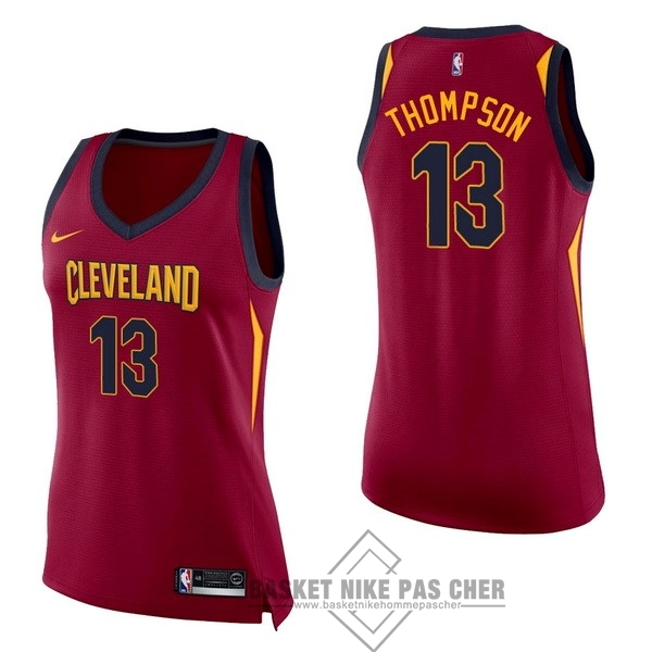 Maillot NBA Pas Cher - Maillot NBA Femme Cleveland Cavaliers NO.13 Tristan Thompson Rouge Icon