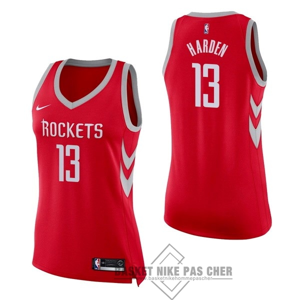 Maillot NBA Pas Cher - Maillot NBA Femme Houston Rockets NO.13 James Harden Rouge Icon