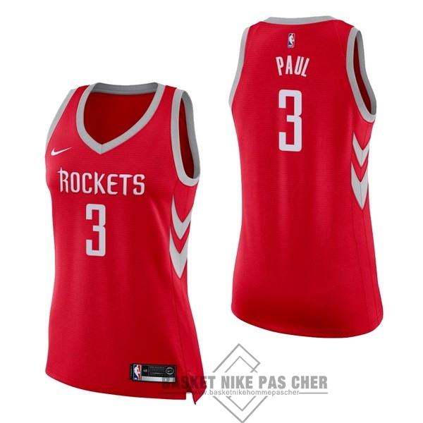 Maillot NBA Pas Cher - Maillot NBA Femme Houston Rockets NO.3 Chris Paul Rouge Icon