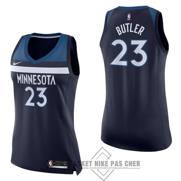 Maillot NBA Pas Cher - Maillot NBA Femme Minnesota Timberwolves NO.23 Jimmy Butler Marine Icon