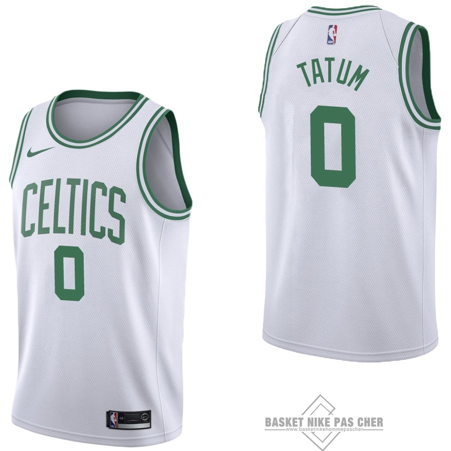 Maillot NBA Pas Cher - Maillot NBA Nike Boston Celtics NO.0 Jayson Tatum Blanc Association