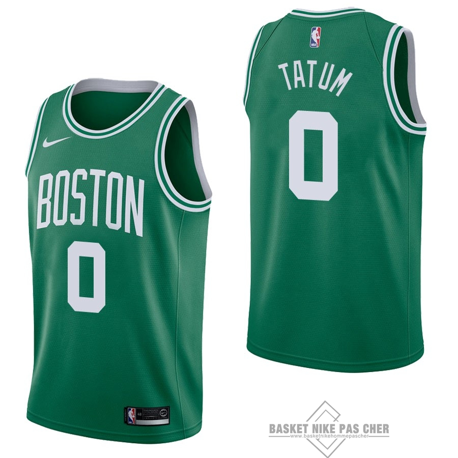 Maillot NBA Pas Cher - Maillot NBA Nike Boston Celtics NO.0 Jayson Tatum Vert Icon