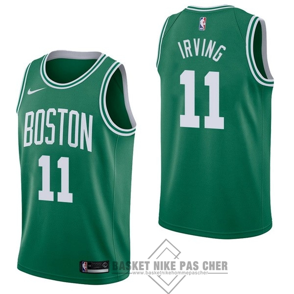 Maillot NBA Pas Cher - Maillot NBA Nike Boston Celtics NO.11 Kyrie Irving Vert Icon