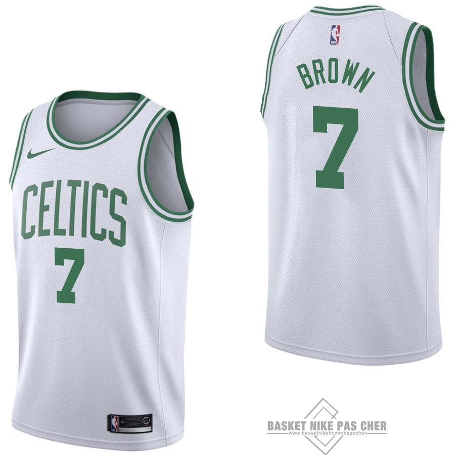 Maillot NBA Pas Cher - Maillot NBA Nike Boston Celtics NO.7 Jaylen Brown Blanc Association