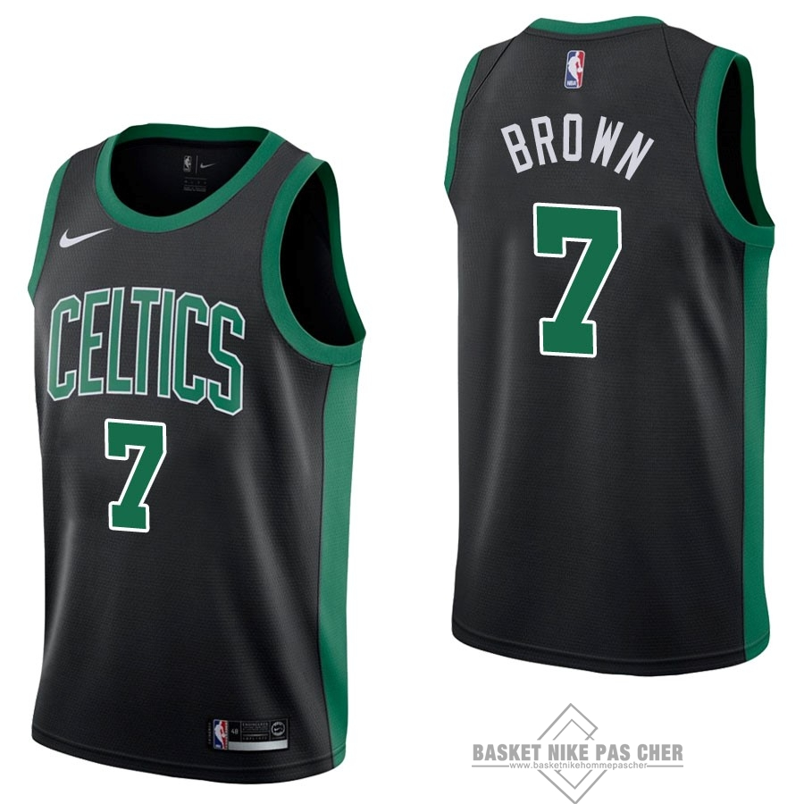 Maillot NBA Pas Cher - Maillot NBA Nike Boston Celtics NO.7 Jaylen Brown Noir Statement