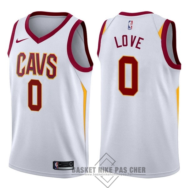 Maillot NBA Pas Cher - Maillot NBA Nike Cleveland Cavaliers NO.0 Kevin Love Blanc Association