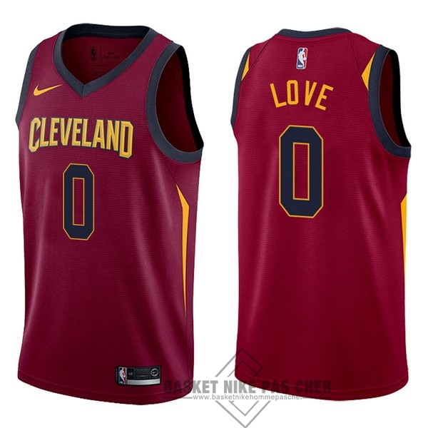 Maillot NBA Pas Cher - Maillot NBA Nike Cleveland Cavaliers NO.0 Kevin Love Rouge Icon