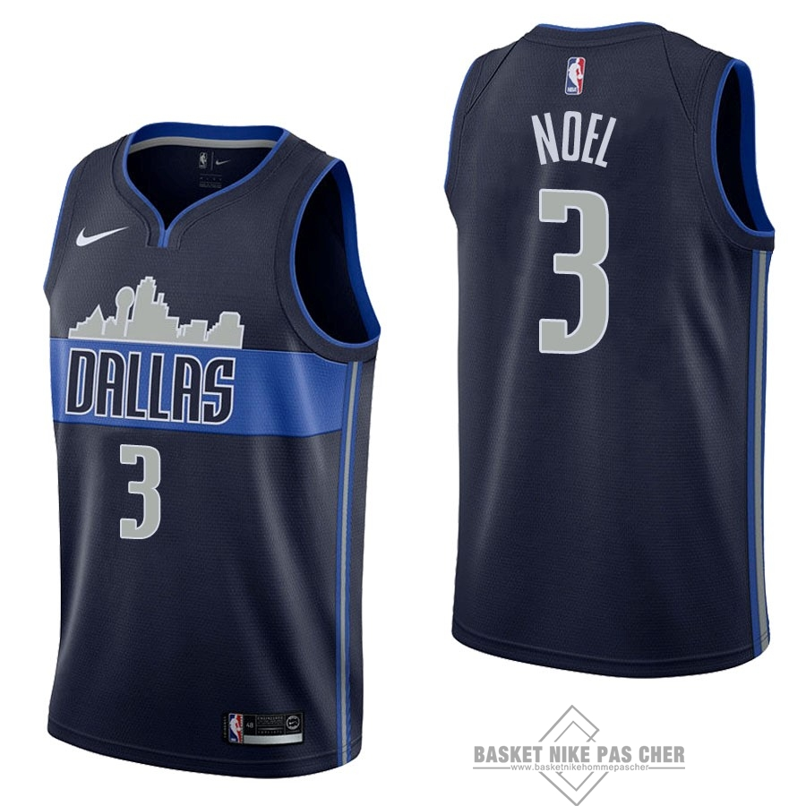 Maillot NBA Pas Cher - Maillot NBA Nike Dallas Mavericks NO.3 Nerlens Noel Noir Statement