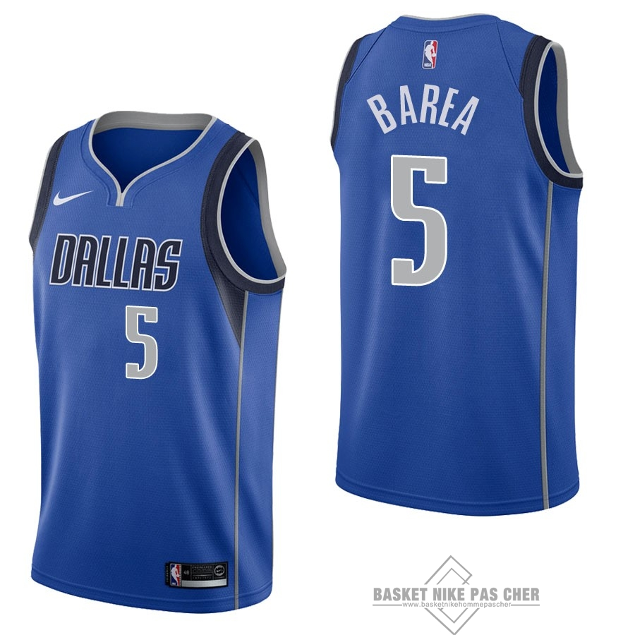 Maillot NBA Pas Cher - Maillot NBA Nike Dallas Mavericks NO.5 J.J. Barea Bleu Icon