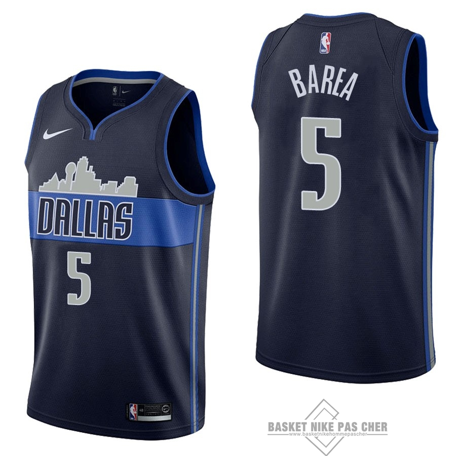 Maillot NBA Pas Cher - Maillot NBA Nike Dallas Mavericks NO.5 J.J. Barea Noir Statement