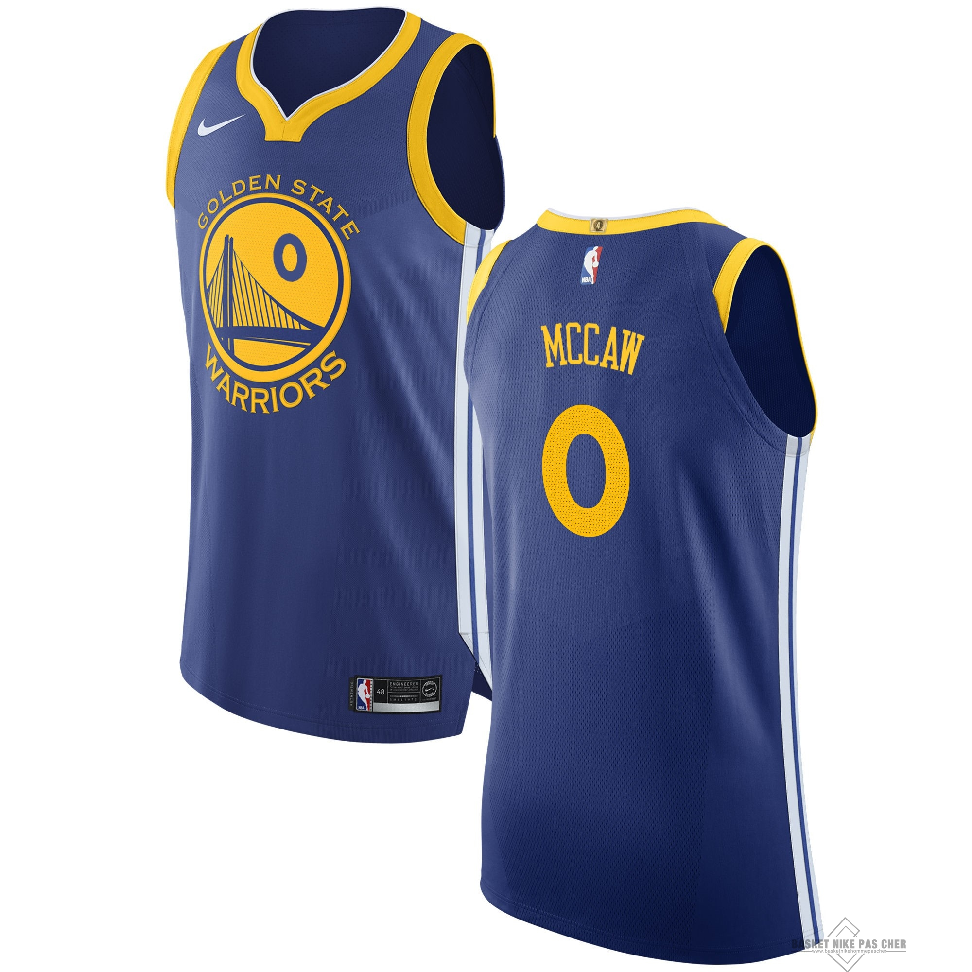 Maillot NBA Pas Cher - Maillot NBA Nike Golden State Warriors NO.0 Patrick McCaw Bleu Icon