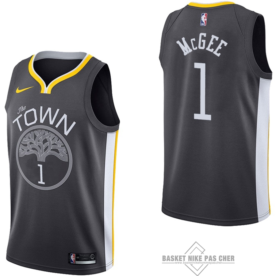 Maillot NBA Pas Cher - Maillot NBA Nike Golden State Warriors NO.1 JaVale McGee Noir Statement