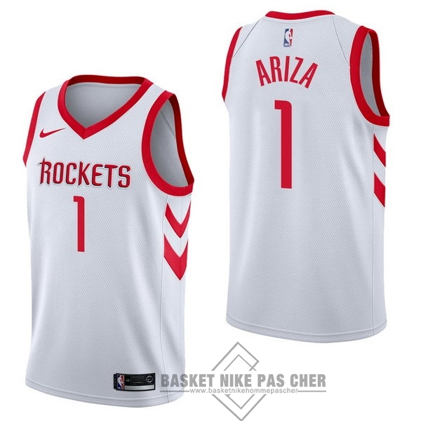 Maillot NBA Pas Cher - Maillot NBA Nike Houston Rockets NO.1 Trevor Ariza Blanc Association