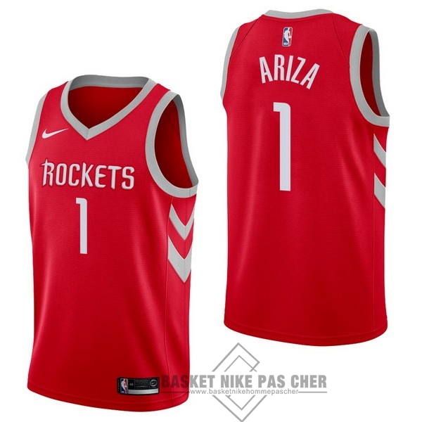 Maillot NBA Pas Cher - Maillot NBA Nike Houston Rockets NO.1 Trevor Ariza Rouge Icon