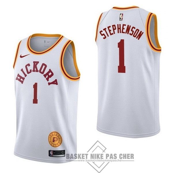 Maillot NBA Pas Cher - Maillot NBA Nike Indiana Pacers NO.1 Lance Stephenson Retro Blanc