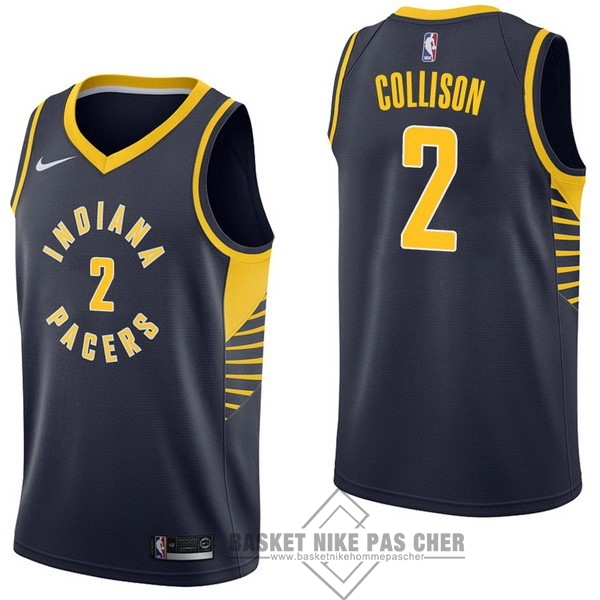 Maillot NBA Pas Cher - Maillot NBA Nike Indiana Pacers NO.2 Darren Collison Marine Icon