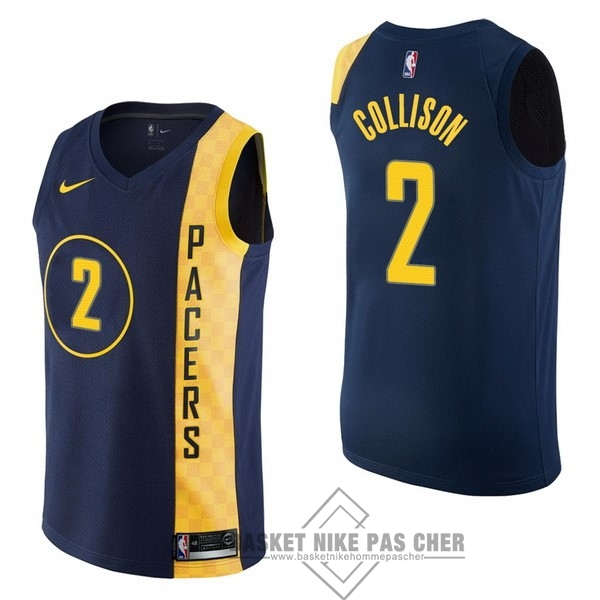 Maillot NBA Pas Cher - Maillot NBA Nike Indiana Pacers NO.2 Darren Collison Nike Marine Ville