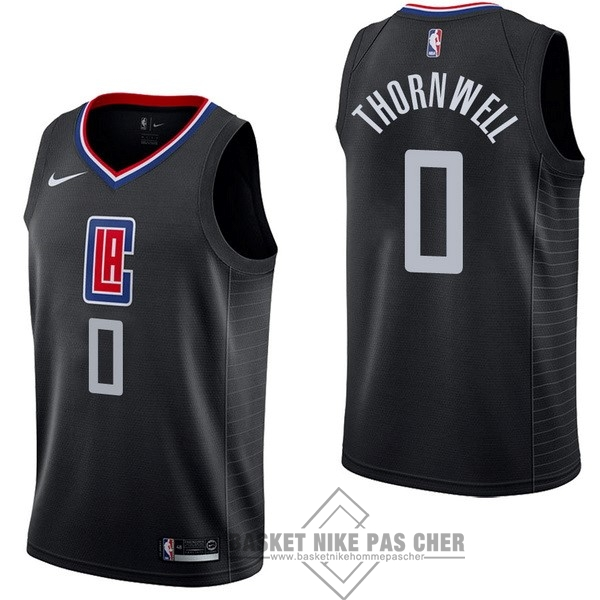 Maillot NBA Pas Cher - Maillot NBA Nike Los Angeles Clippers NO.0 Sindarius Thornwell Noir Statement