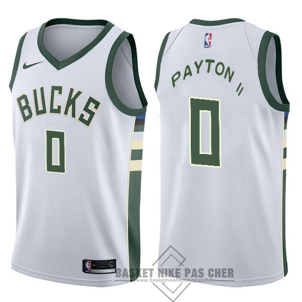Maillot NBA Pas Cher - Maillot NBA Nike Milwaukee Bucks NO.0 Gary Payton II Blanc Association
