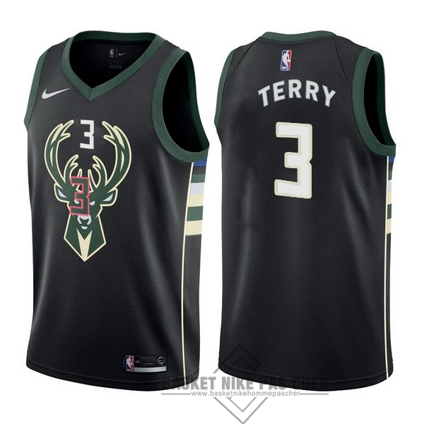 Maillot NBA Pas Cher - Maillot NBA Nike Milwaukee Bucks NO.3 Jason Terry Noir Statement