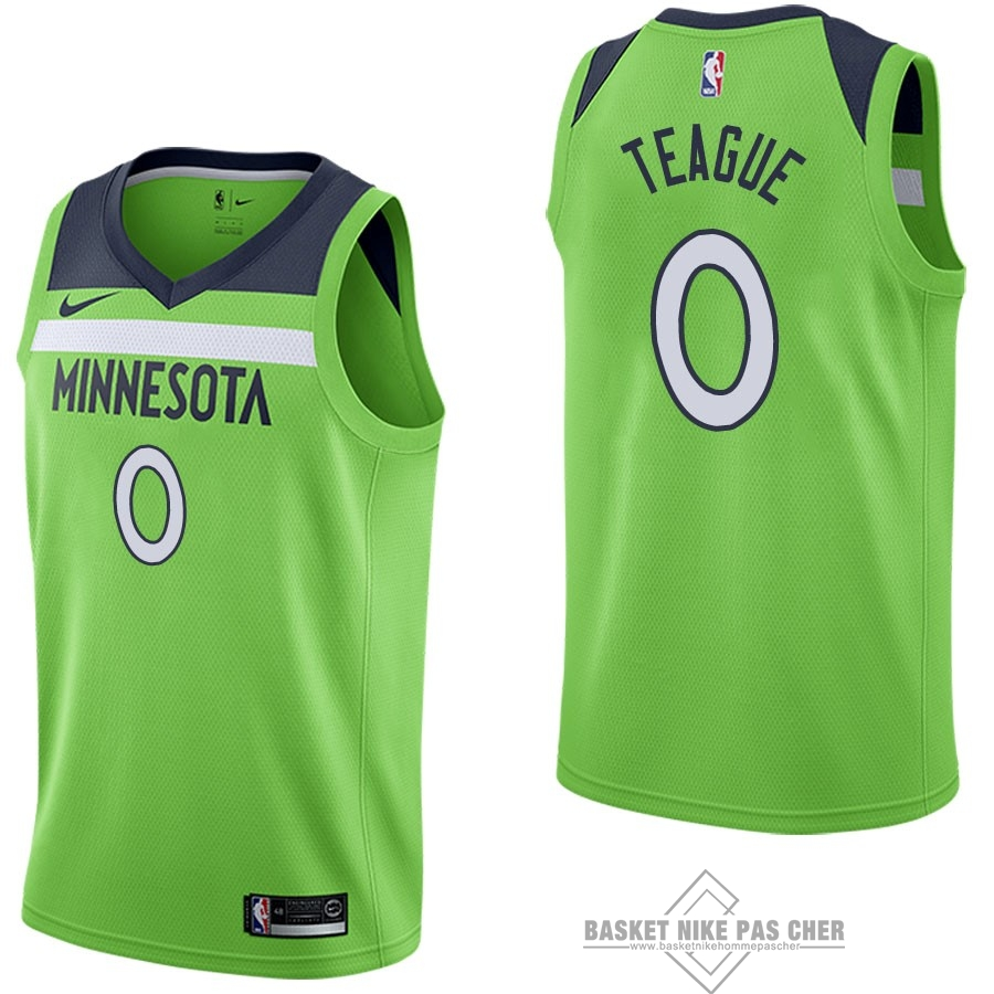 Maillot NBA Pas Cher - Maillot NBA Nike Minnesota Timberwolves NO.0 Jeff Teague Vert Statement