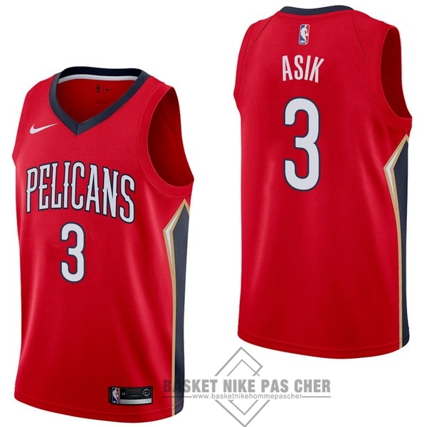 Maillot NBA Pas Cher - Maillot NBA Nike New Orleans Pelicans NO.3 Omer Asik Rouge Statement