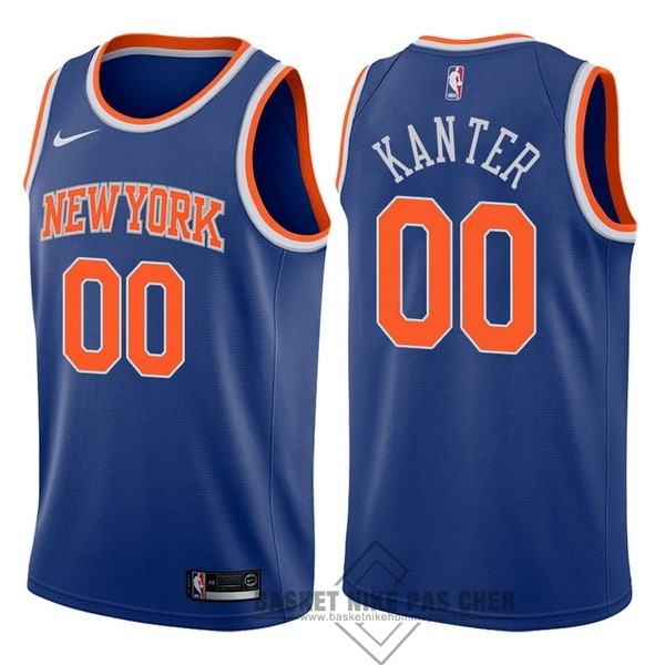 Maillot NBA Pas Cher - Maillot NBA Nike New York Knicks NO.0 Enes Kanter Bleu Icon