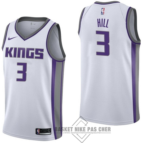 Maillot NBA Pas Cher - Maillot NBA Nike Sacramento Kings NO.3 George Hill Blanc Association
