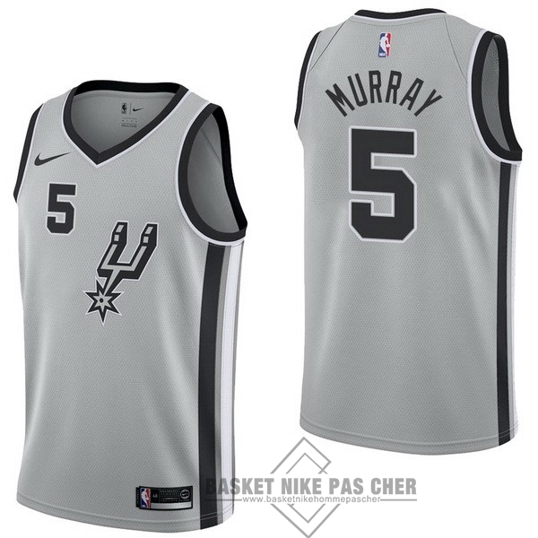 Maillot NBA Pas Cher - Maillot NBA Nike San Antonio Spurs NO.5 Dejounte Murray Gris Statement