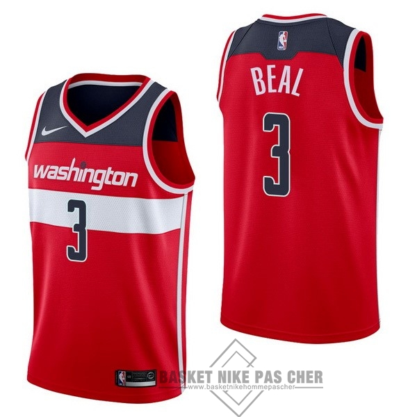 Maillot NBA Pas Cher - Maillot NBA Nike Washington Wizards NO.3 Bradley Beal Rouge Icon