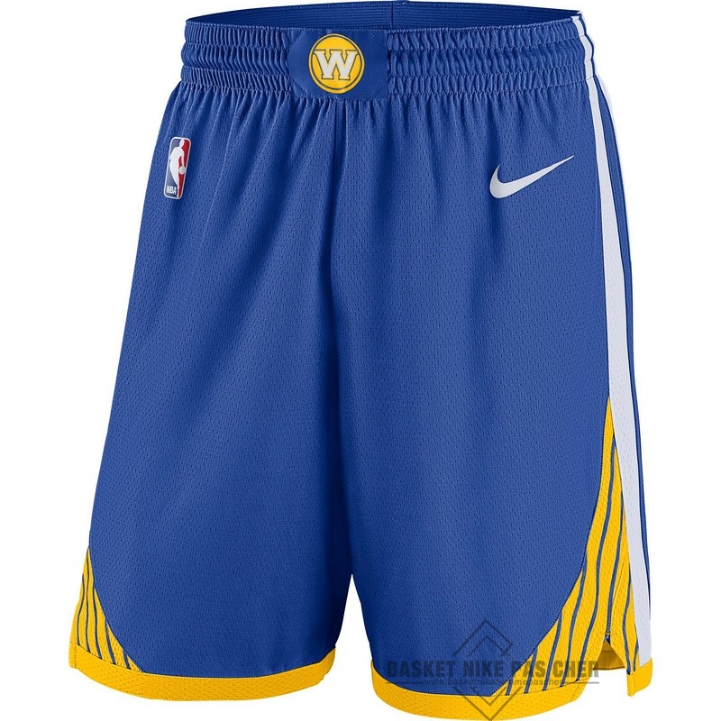 Maillot NBA Pas Cher - Short Basket Enfant Golden State Warriors Bleu